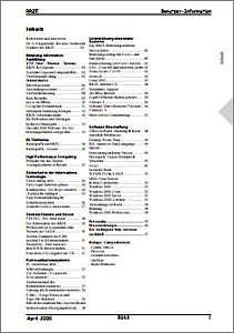 Abbildung der Titelseite Benutzerinformation 63