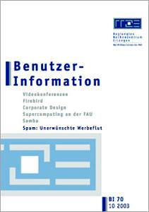 Abbildung der Titelseite Benutzerinformation 70