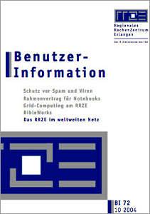 Abbildung der Titelseite Benutzerinformation 72