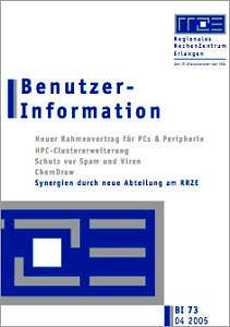 Abbildung der Titelseite Benutzerinformation 73