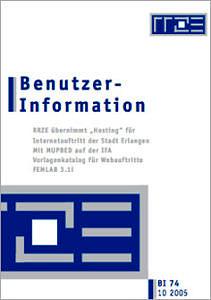 Abbildung der Titelseite Benutzerinformation 74