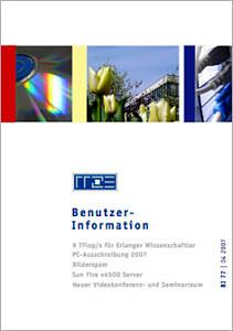 Abbildung der Titelseite Benutzerinformation 77
