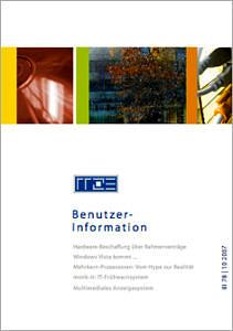 Abbildung der Titelseite Benutzerinformation 78