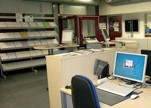 Raum der Zentralen Service-Theke des RRZE