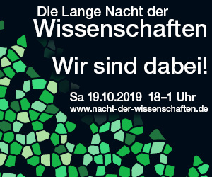 Banner Lange Nacht der Wissenschaften 2019