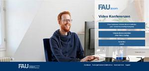 Zoom-Startseite der FAU