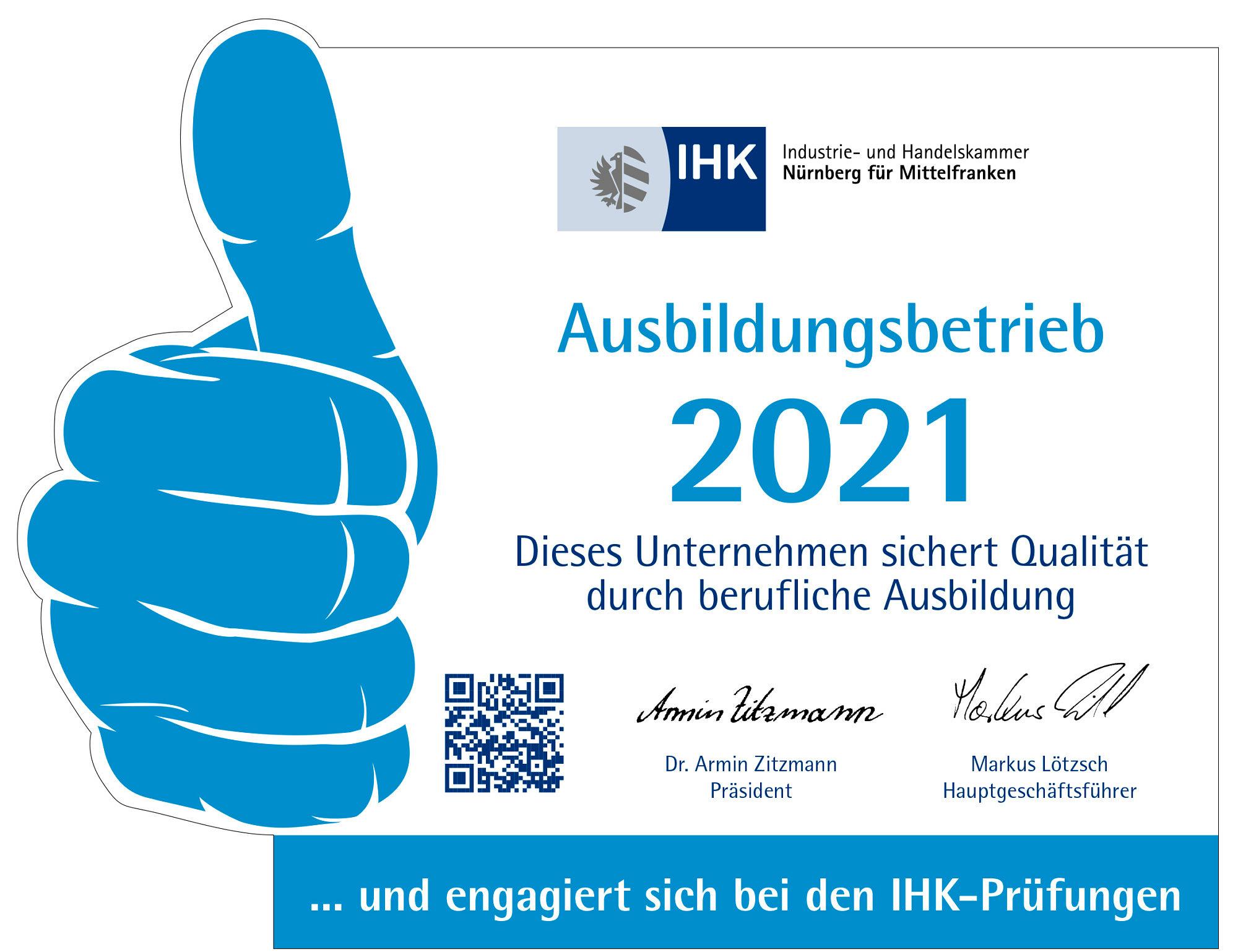IHK-Logo anerkannter Ausbildungsbetrieb
