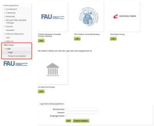 Screenshot zum Login im Kundenkonto
